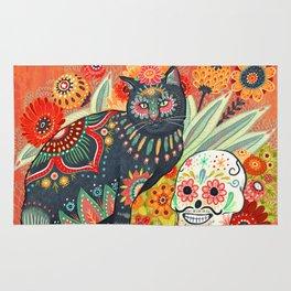 Dia De Los Muertos Cat Rug