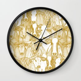 just cattle gold white Wall Clock