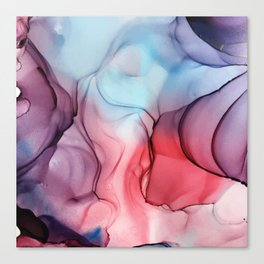 Flame Fired Alcohol Ink Painting Canvas Print