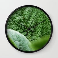 silence of the lambs Wall Clocks featuring Lambs Ear by Christian Gholson