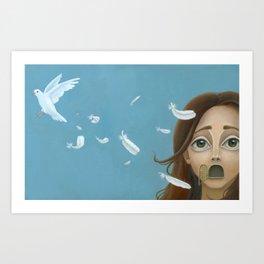 Speak- Print Version Art Print