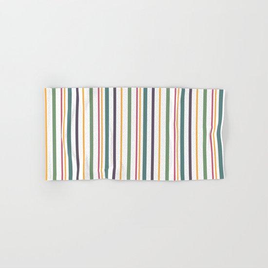 A Fun Striped Pattern 2 Hand Bath Towel By Fuzzyfox Society6