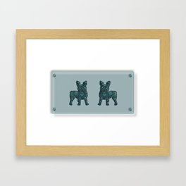 Patches French Bulldog Twins Framed Art Print