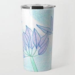 Agapanthus Flowers Travel Mug