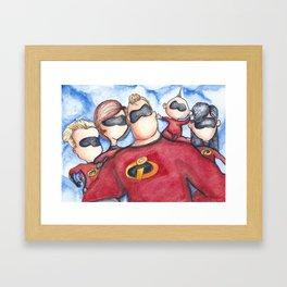Family Portrait --- The Incredibles Framed Art Print