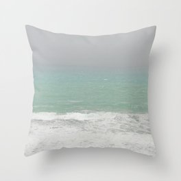Foggy Sea Throw Pillow