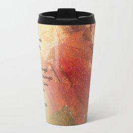 Serenity Prayer Maple Leaves Orange Travel Mug