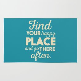 Be happy, wanderlust, find your happy place, travel, explore, go on an adventure, world is my home Rug