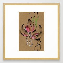 Vertical Flora Framed Art Print