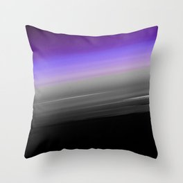 Purple Gray Black Smooth Ombre Throw Pillow