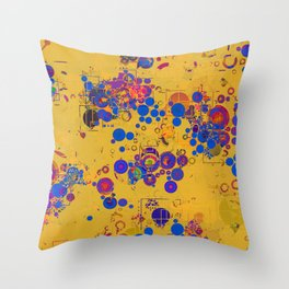 Vibrant Multi Color Abstract Design Throw Pillow
