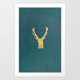 Deer Book Art Print