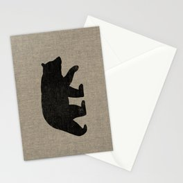 Black Bear Silhouette Stationery Cards