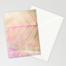 Pink Leaf Abstract Stationery Cards