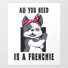 Frenchie bulldog gift for dog owner Art Print