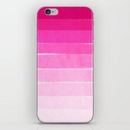 Pink Ombre Brushstroke - Summer, Beach, Cute trendy, painterly art iPhone Skin