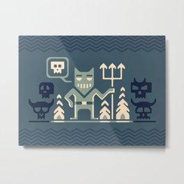 Skull collector Metal Print