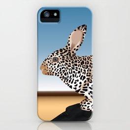 Rabbit Guepard Pattern iPhone Case