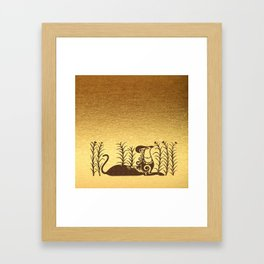 Knossos griffin on a gold background Framed Art Print