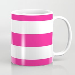 Barbie Pink (1999-2004) - solid color - white stripes pattern Coffee Mug
