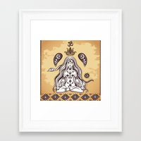 om Framed Art Prints featuring om by flamenco72