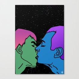 Space kiss Canvas Print