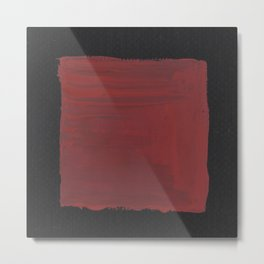 Sideways Red Square Metal Print