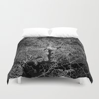 washington Duvet Covers featuring washington map by Line Line Lines