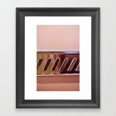 Pink Classic American Car Framed Art Print