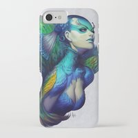 dead iPhone & iPod Cases featuring Peacock Queen by Artgerm™