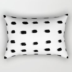 Jacques Pattern - Pure White Rectangular Pillow