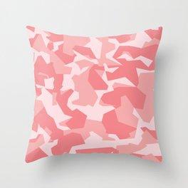 Camouflage Splinter Pattern Pink Throw Pillow