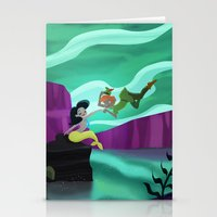 peter pan Stationery Cards featuring Peter Pan by enosay