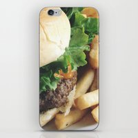 hamburger iPhone & iPod Skins featuring Hamburger by Anna Zurowska