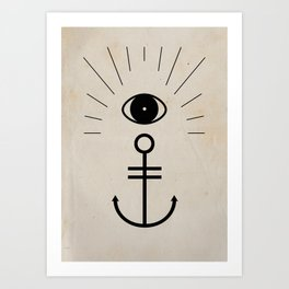 Anchor your Smile Art Print