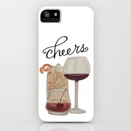 Cheers - Dark Drinks iPhone Case
