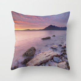 II - Spectacular sunset at the Elgol beach, Isle of Skye, Scotland Throw Pillow