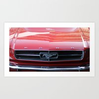 mustang Art Prints featuring Mustang by JJ's Photography