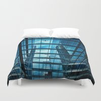 plane Duvet Covers featuring The Plane by Ewan Arnolda