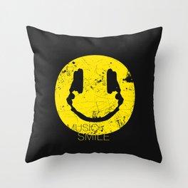 Music Smile Throw Pillow