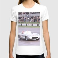 mercedes T-shirts featuring Mercedes Benz Silberpfeil with Stirling Moss by Premium
