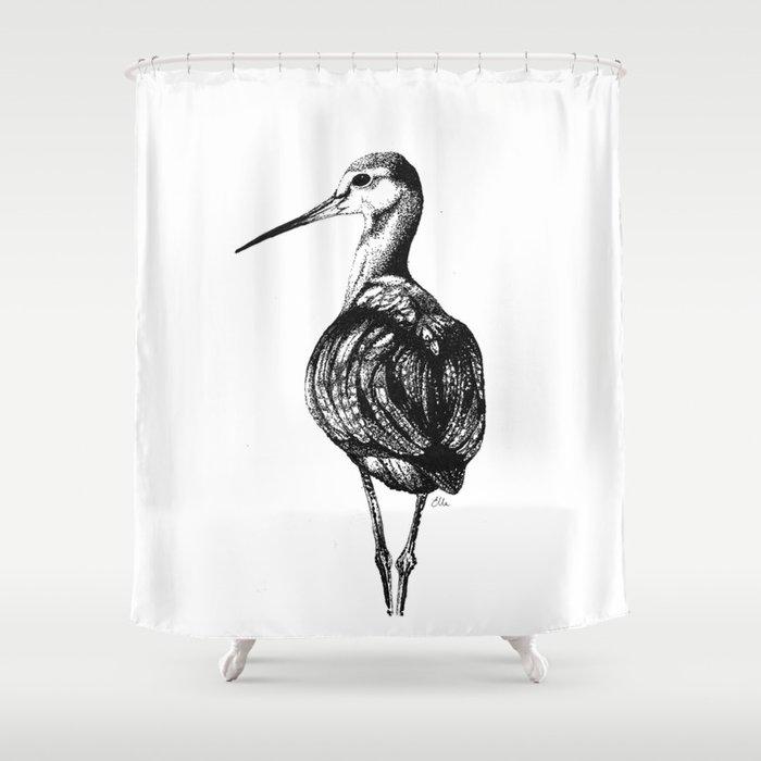 Redshank Shower Curtain