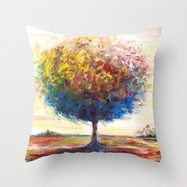 Tree landscape Throw Pillow
