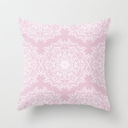 Lotus and Blush Throw Pillow