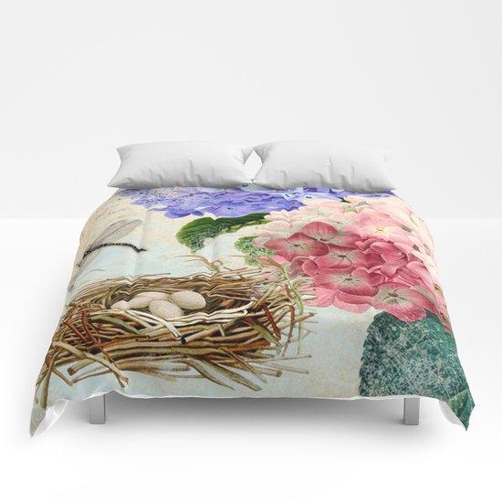 Vintage Flowers #14 Comforters