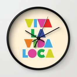 Viva la vida loca Wall Clock