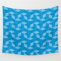 escher Wall Tapestries featuring Escher #008 by rob art | simple