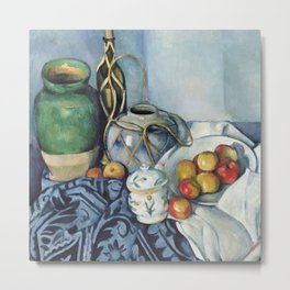Paul Cezanne Still Life with Apples; Paul Cézanne (French, 1839-1906) Metal Print