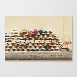 Panama Hats in Cartagena, Colombia Canvas Print