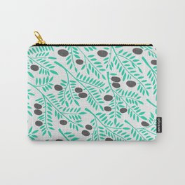 Olive Branches – Turquoise & Black Palette Carry-All Pouch